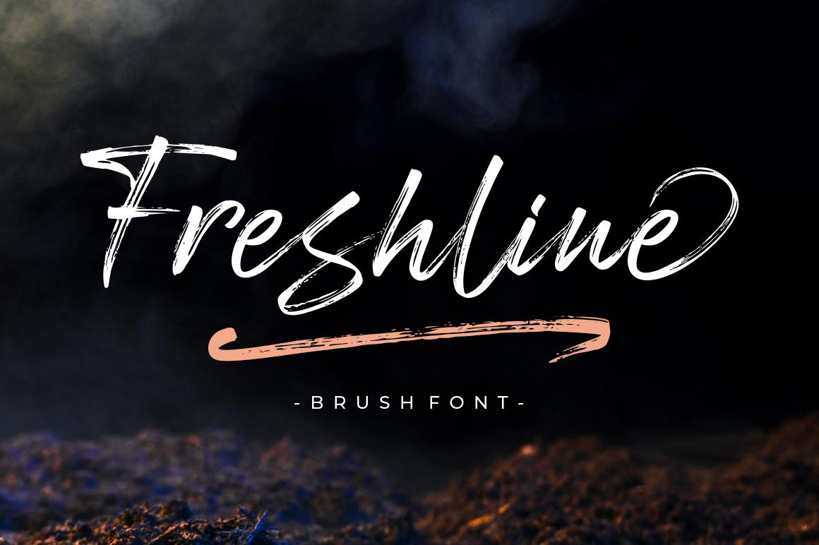 Freshline Brush Font example image 1