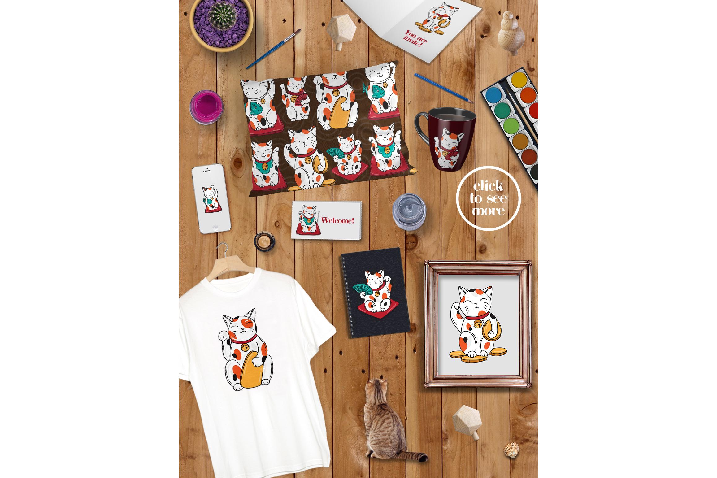 Lucky cats Maneki Neco example image 3