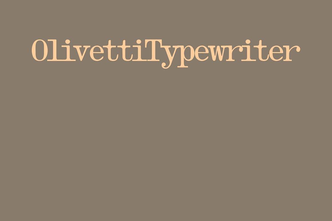Olivetti Typewriter example image 1