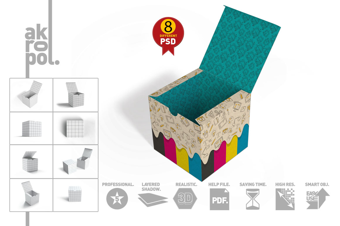 Package Box mock up example image 2