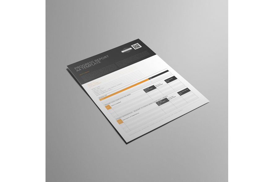 Progress Report A4 Template example image 4