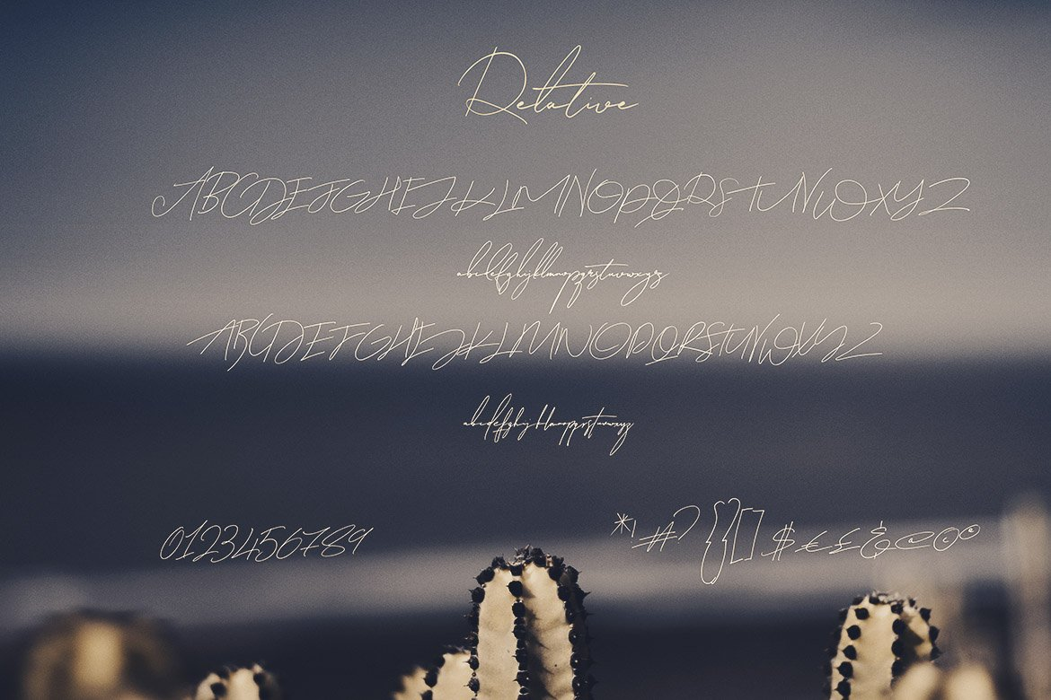 Relative Handwritten & SVG Font example image 12