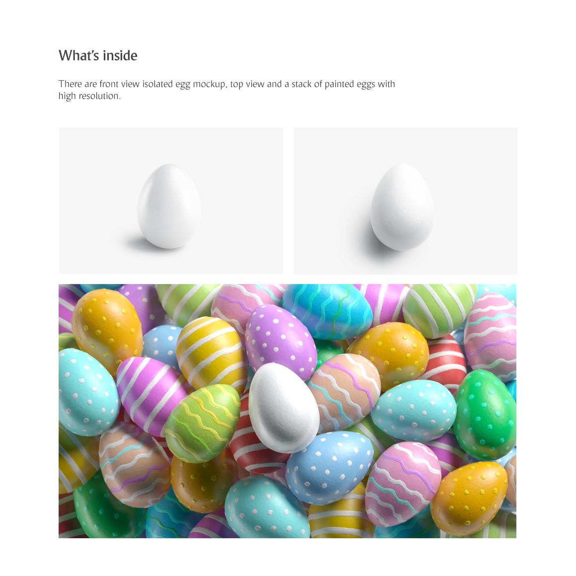 Easter Egg Mockup example image 2