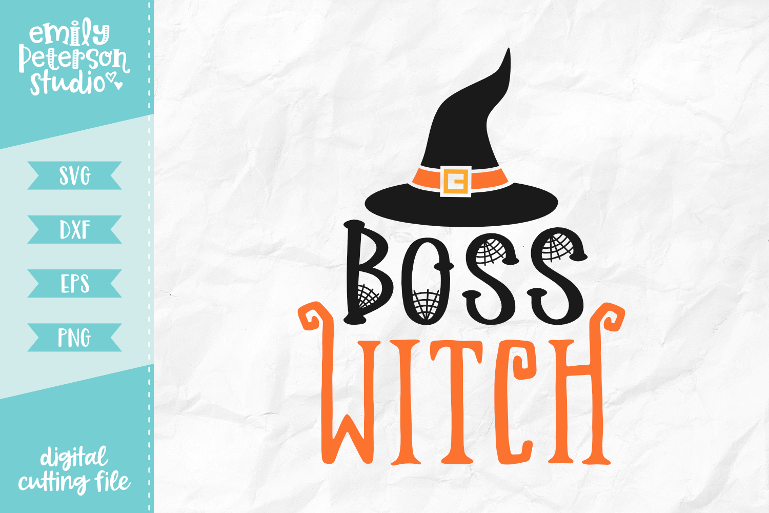 Boss Witch SVG DXF EPS PNG example image 1
