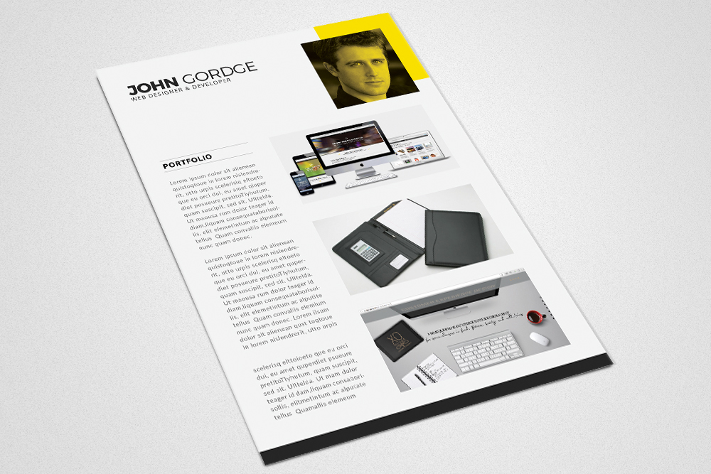 Clean Cv Resume Templates example image 4
