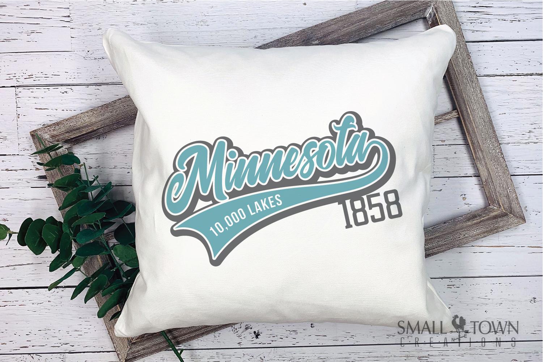 Minnesota, 10,000 Lakes - slogan, PRINT, CUT & DESIGN example image 3