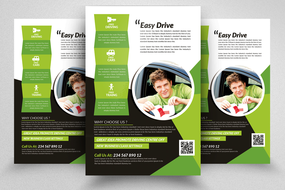 Driving School Flyers Templates example image 8