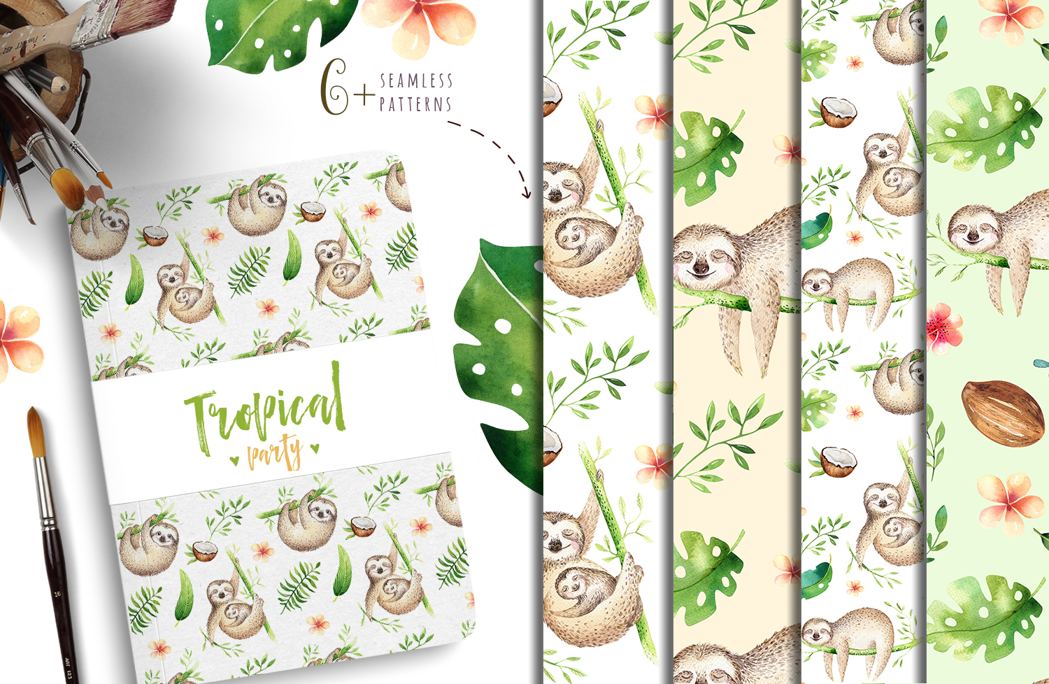 Tropical party III.Sloth collection example image 2