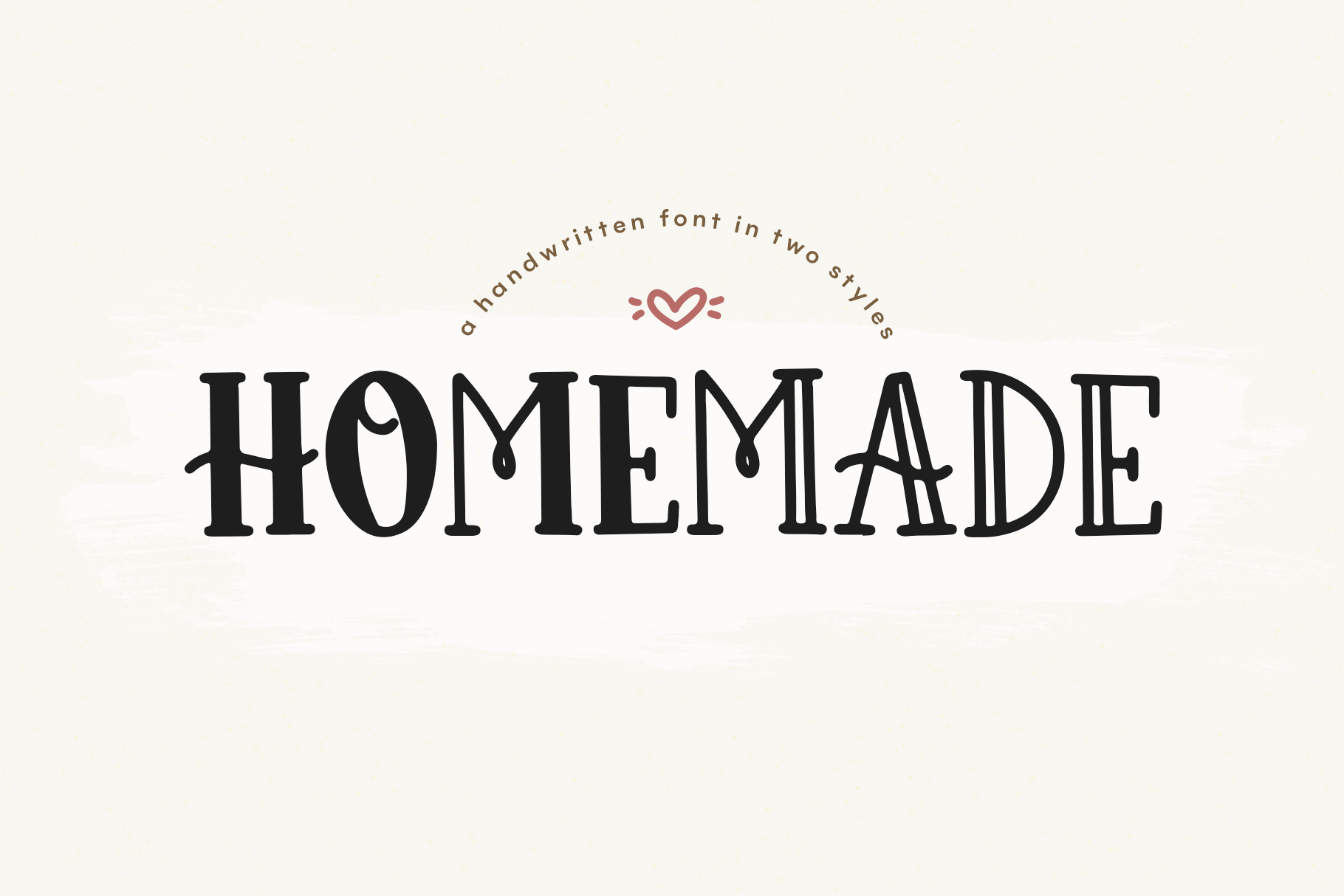 Homemade - A Cute and Chunky Handwritten Font example image 1