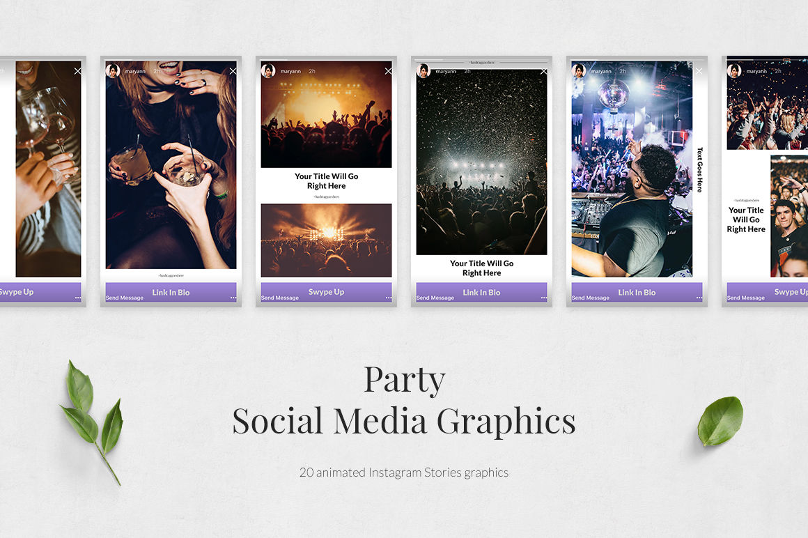 Party Animated Instagram Stories example image 2