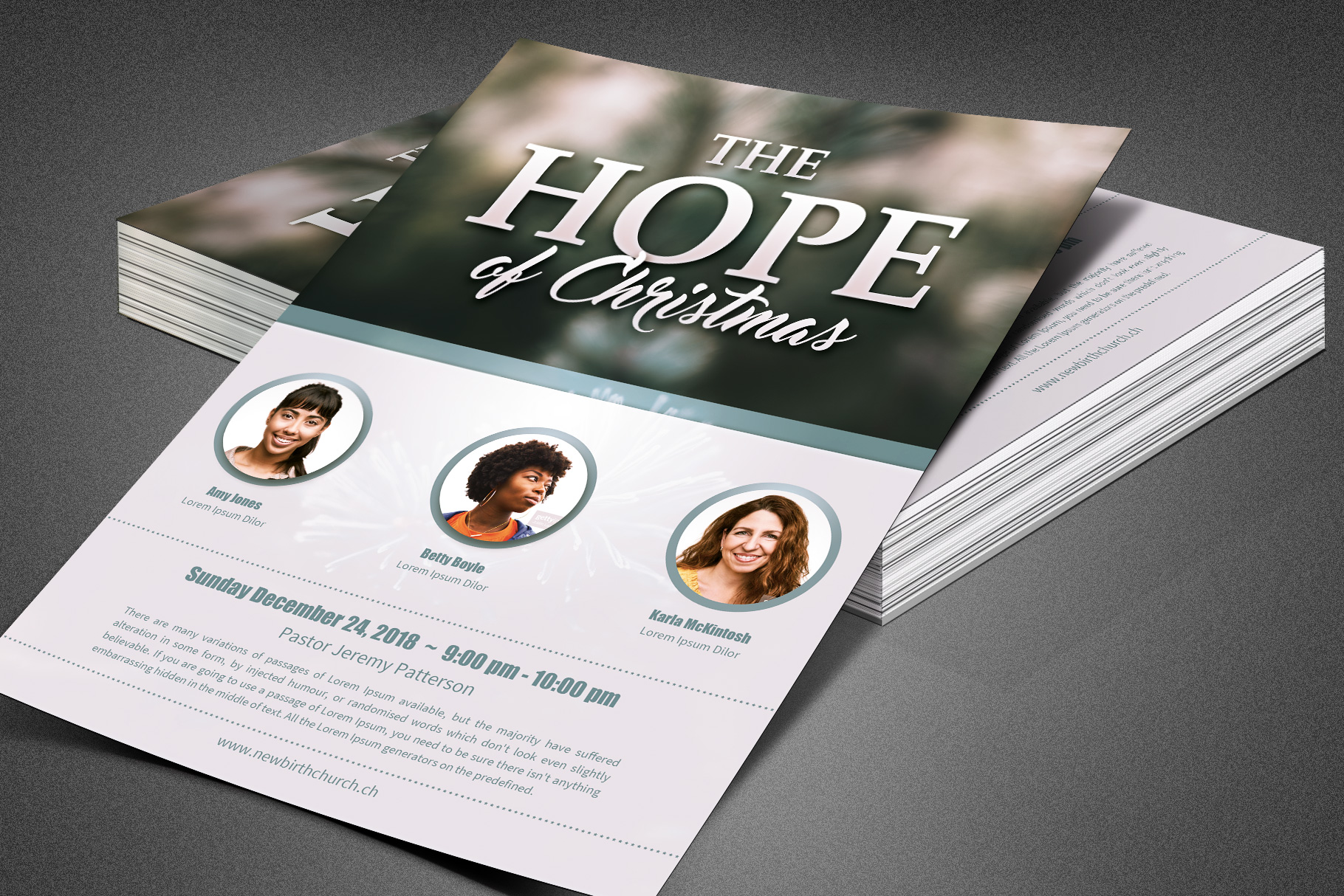 The Hope of Christmas Church Flyer example image 7