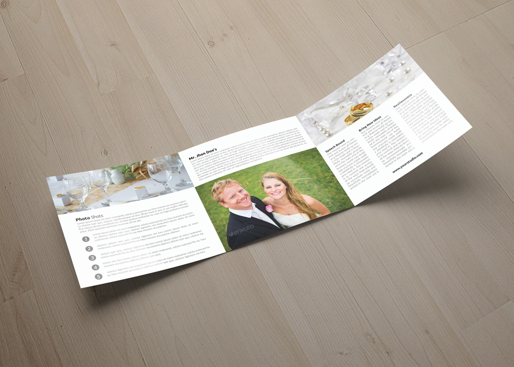 Wedding Planner Square Trifold Brochure example image 4