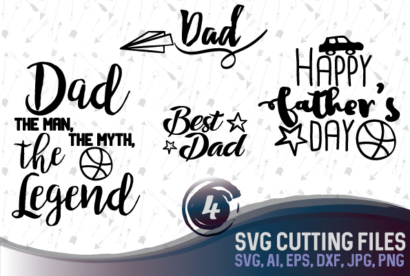 Father's Day quotes and sayings bundle, SVG, PNG, JPG, EPS, AI, DXF example image 1