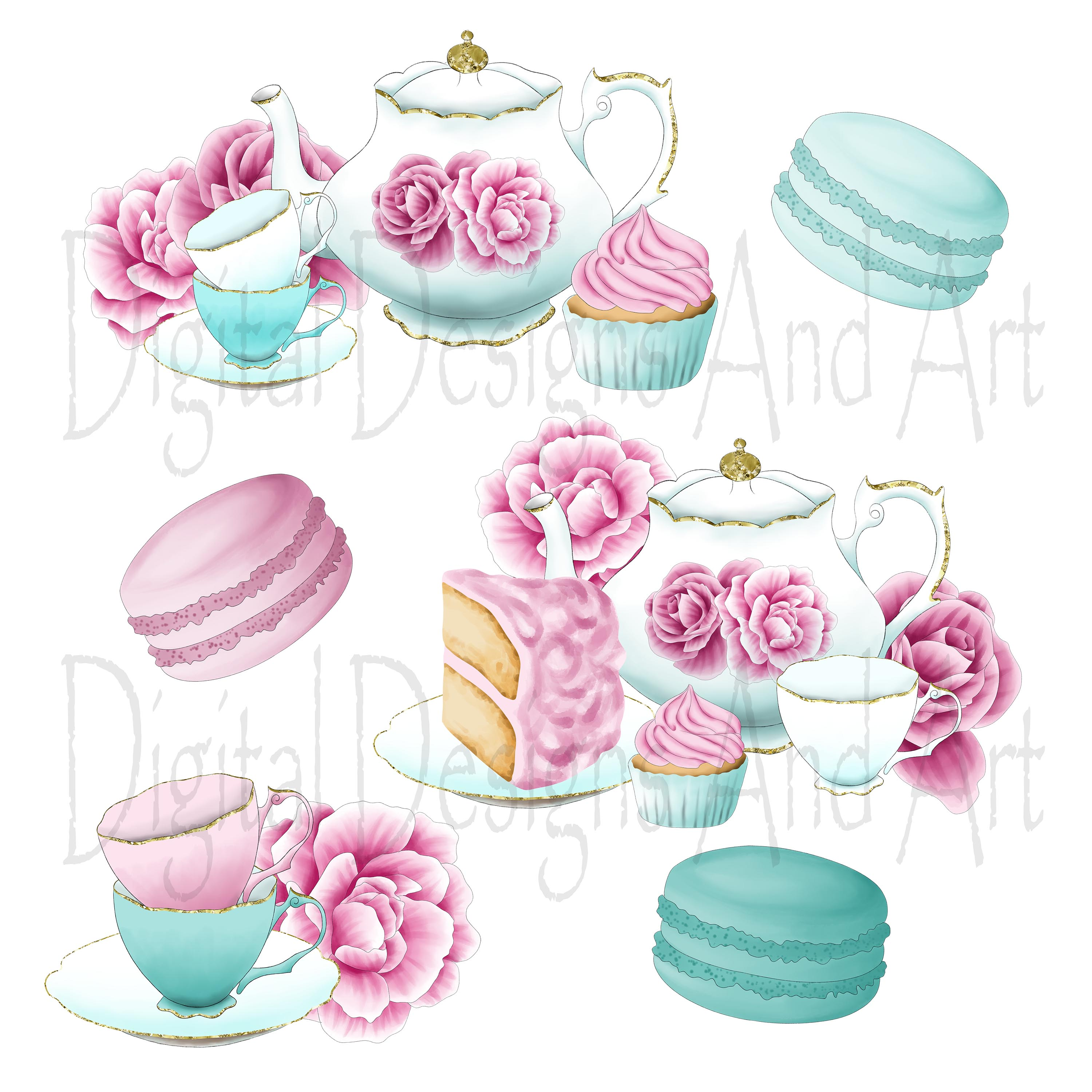 Afternoon tea clipart example image 3