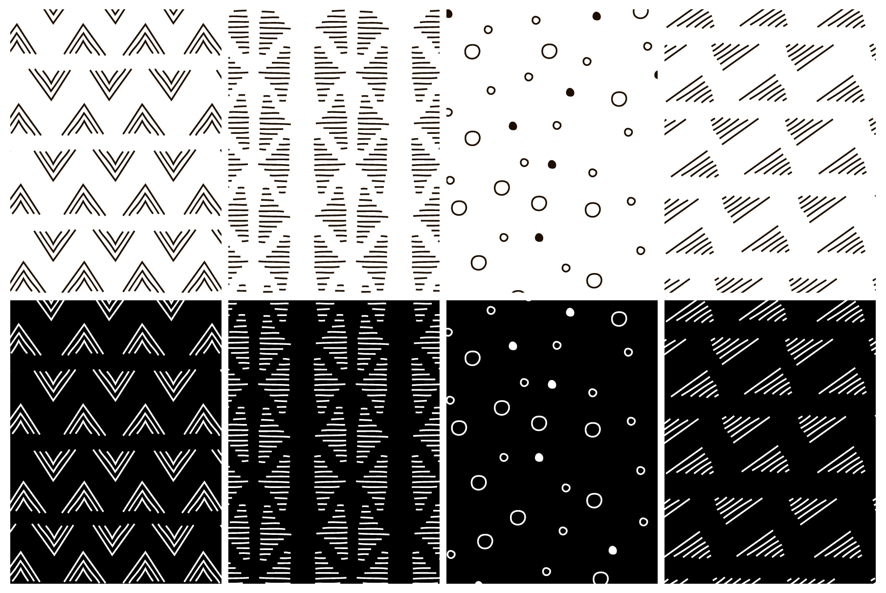Simplicity. 32 seamless patterns example image 5