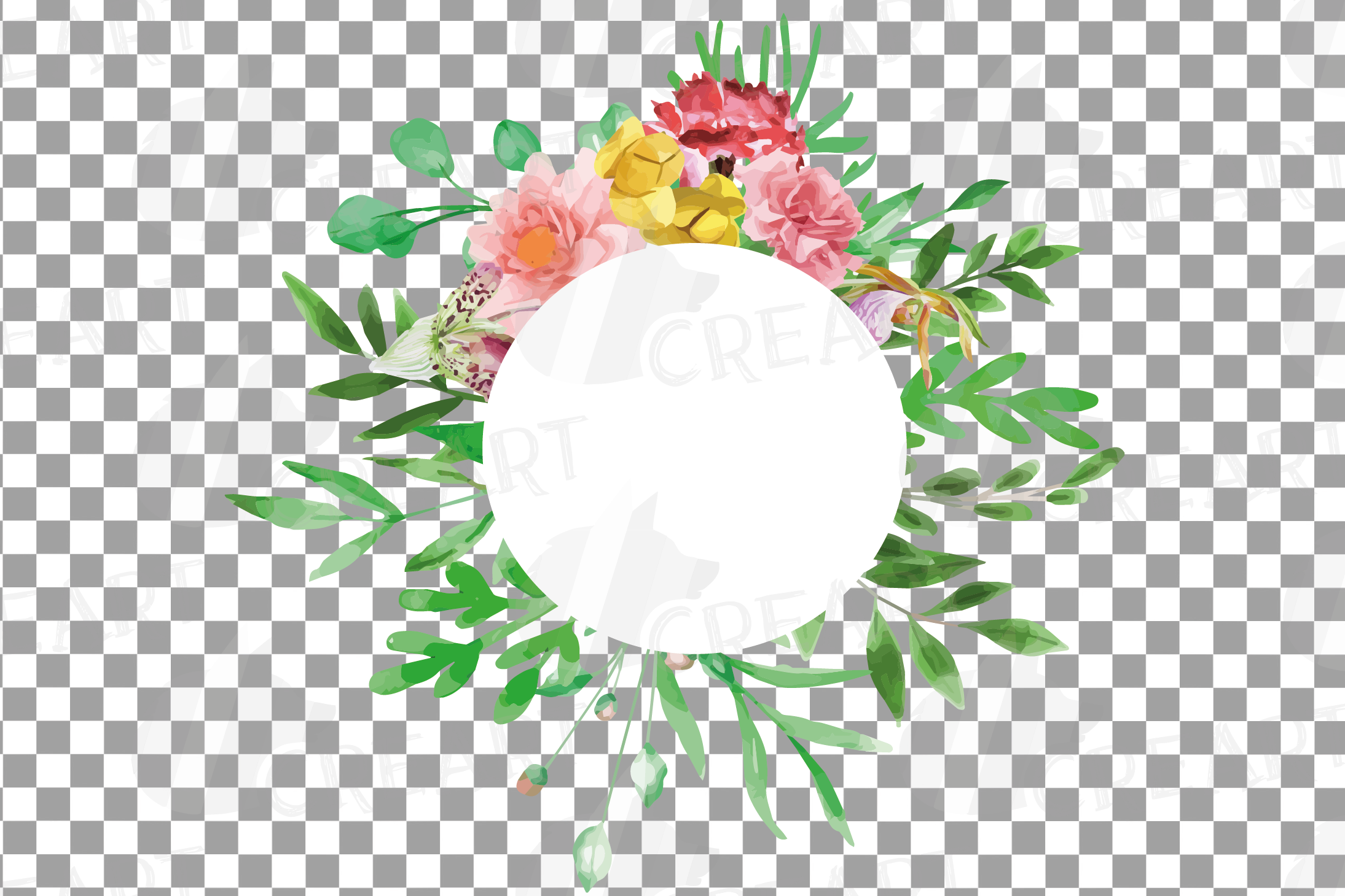 Watercolor floral floral frames and borders clip art pack example image 24