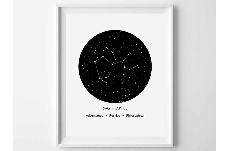 Astrology Wall Art, Sagittarius Print, Sagittarius Zodiac example image 1