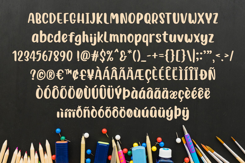 Junior Brush - Handwritten Brush Font example image 4
