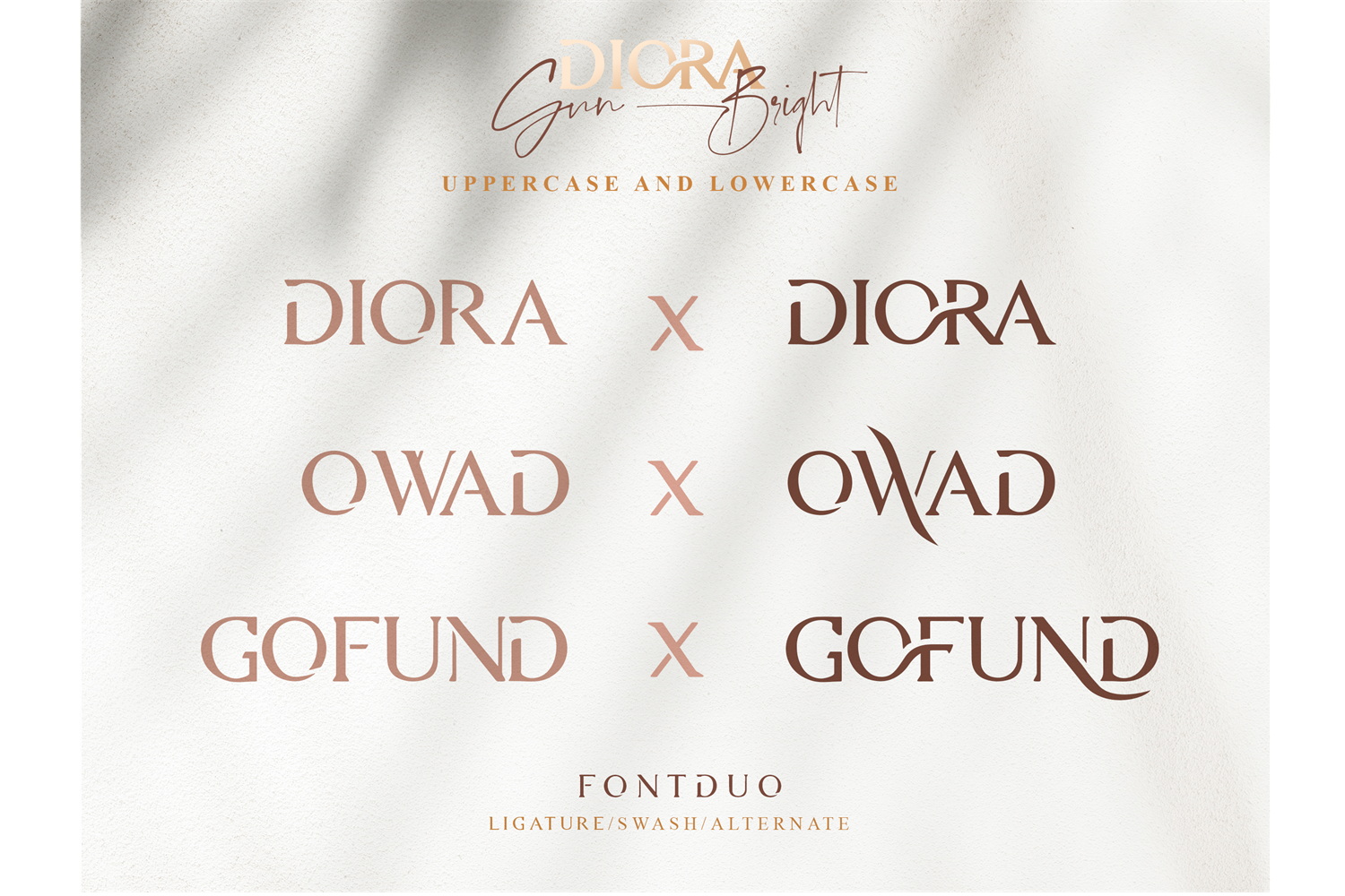 Diora Sunbright Font Duo example image 2