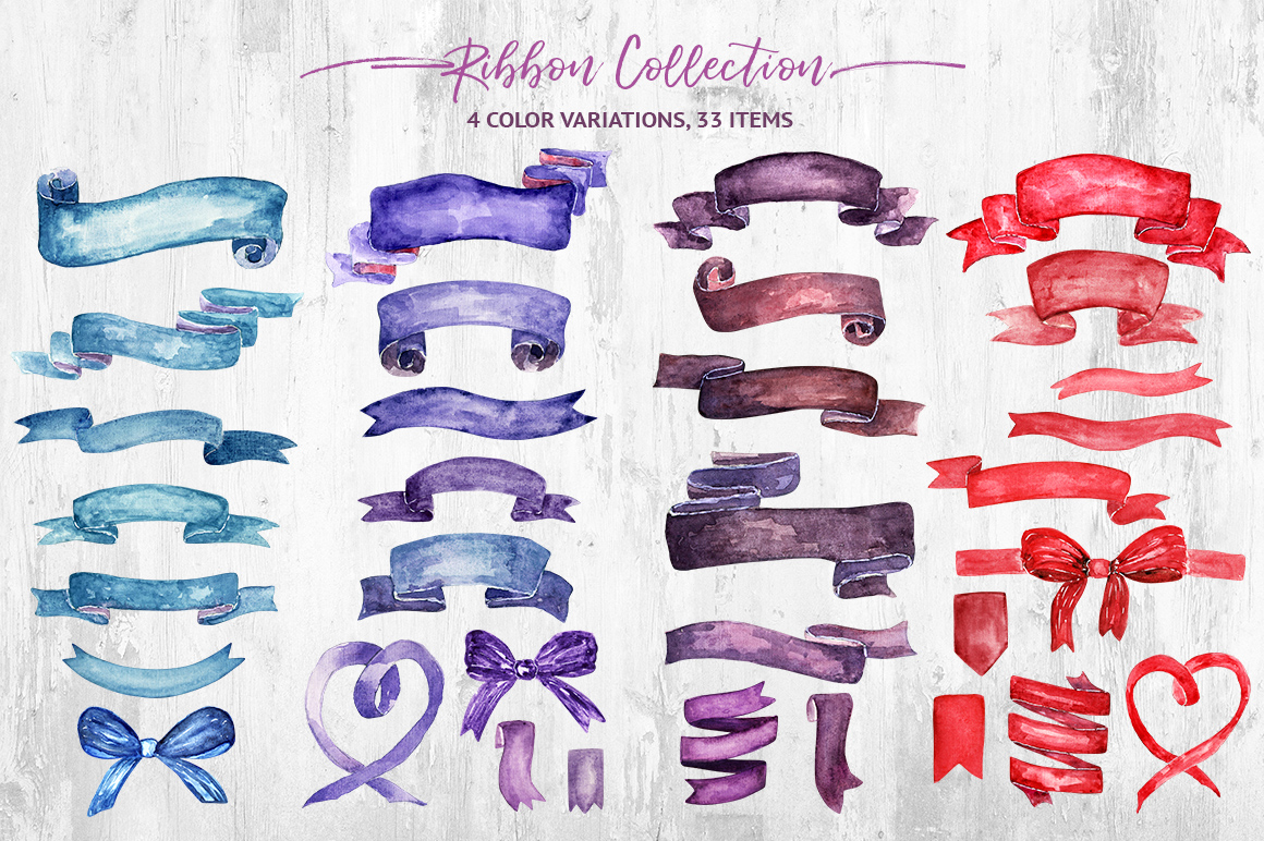 Watercolor Ribbon Collection example image 2