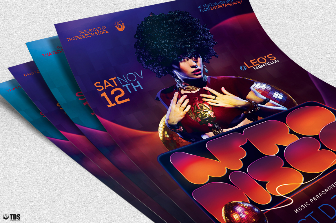 Afro Disco Flyer Template example image 2