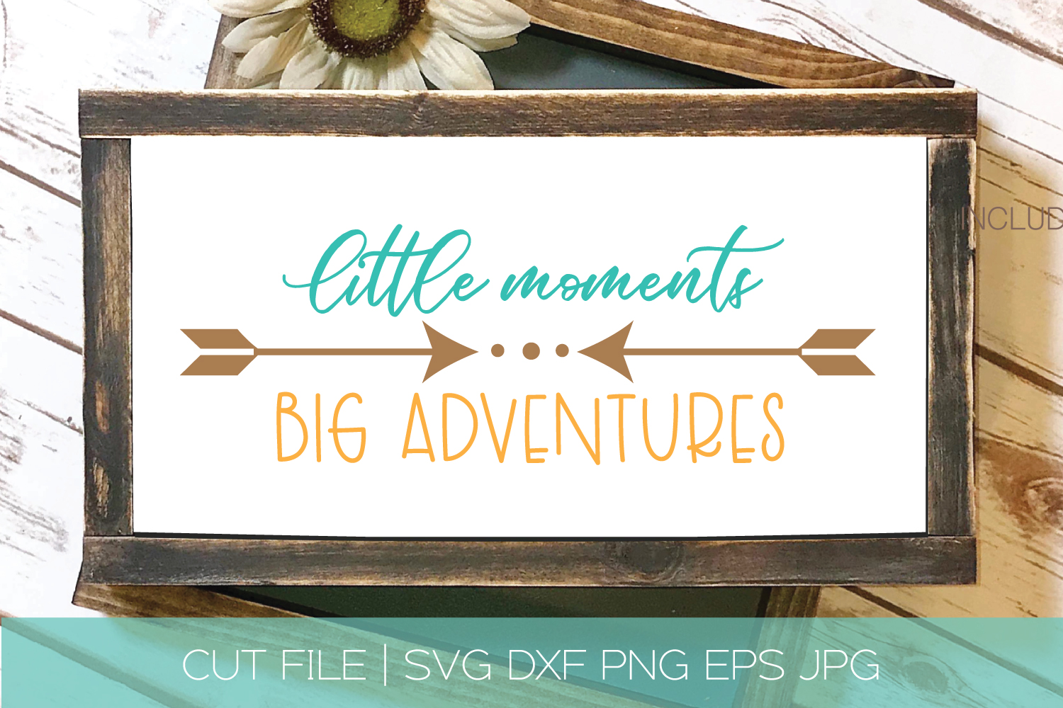 Little Moments Big Adventures SVG DXF Cut File example image 1