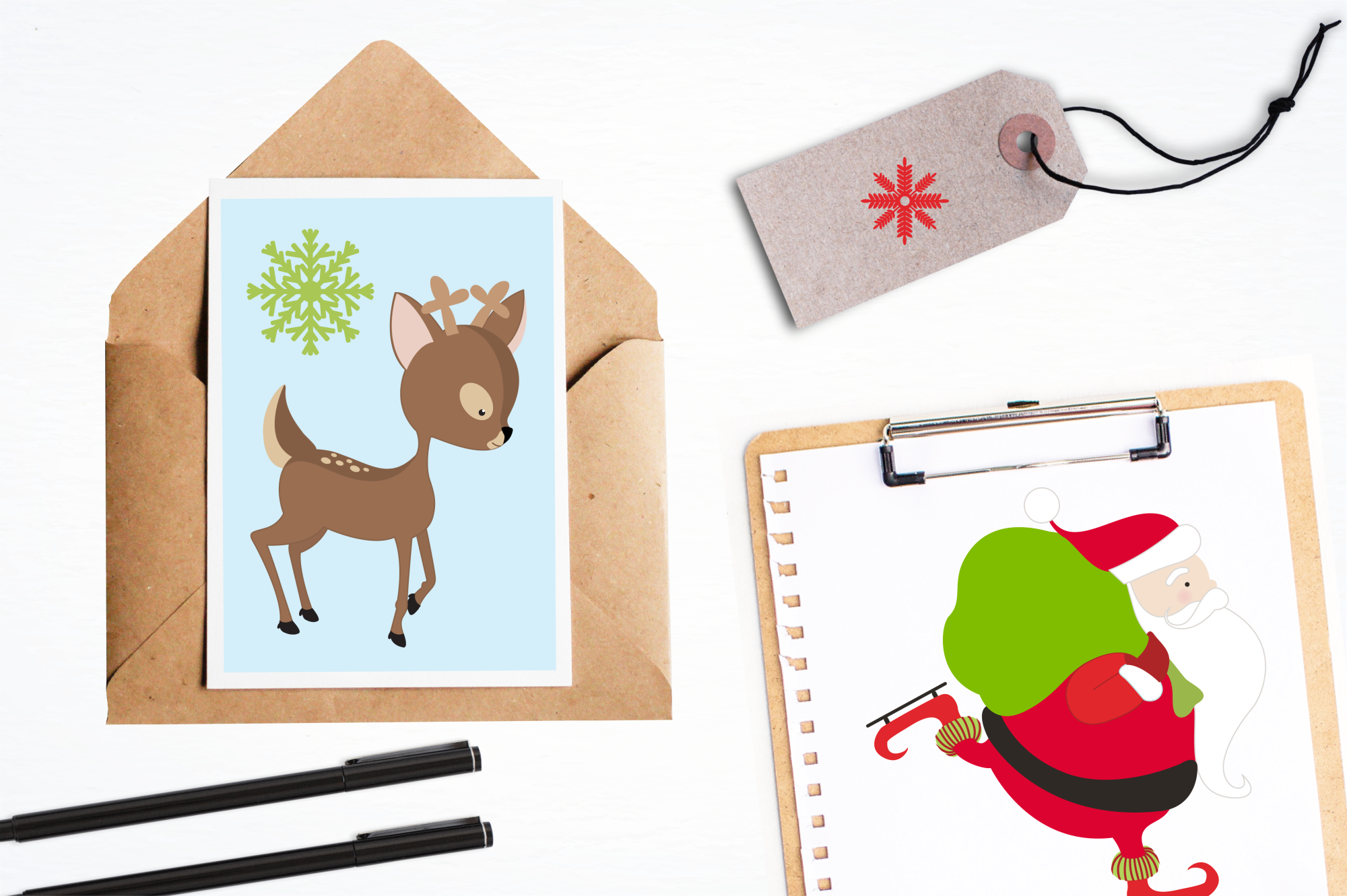 Santa Rudolf graphics and illustrations example image 4