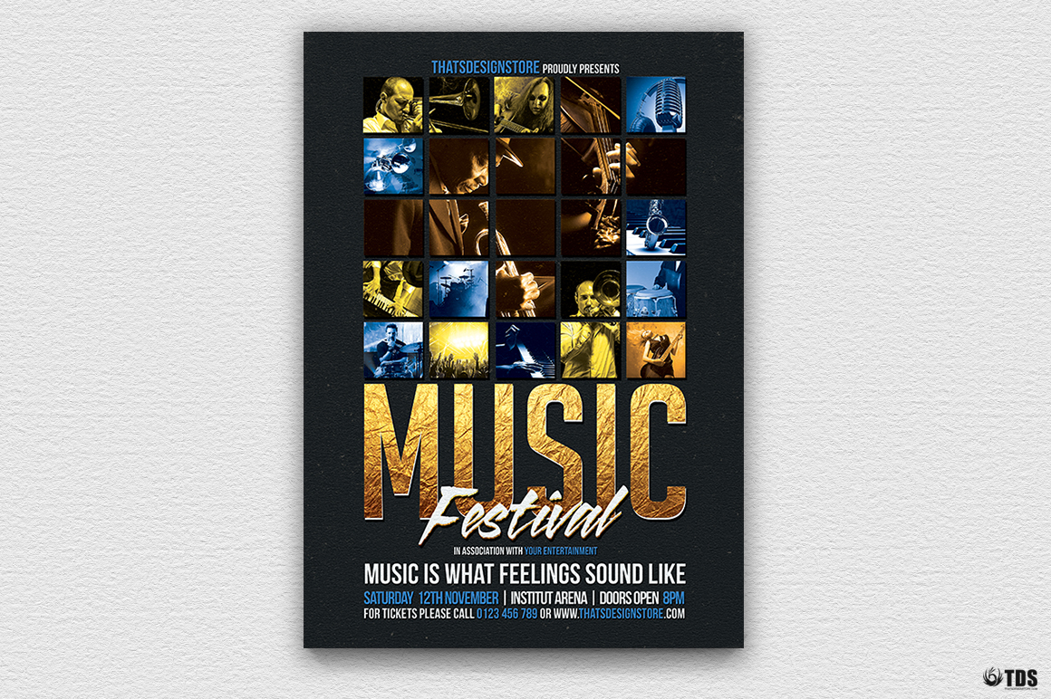 Live Band Flyer Bundle V2 example image 4