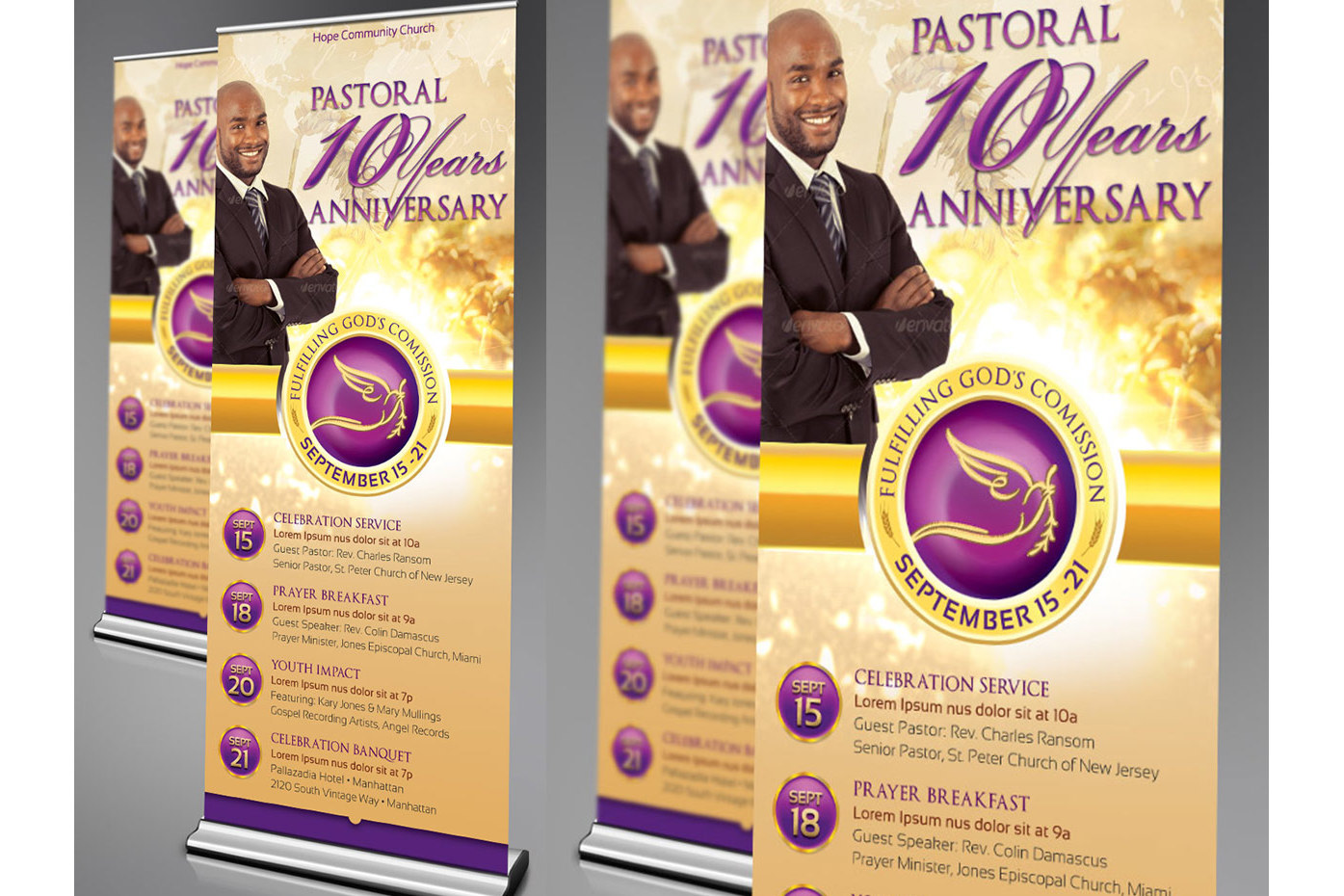 Clergy Anniversary Template Bundle example image 6