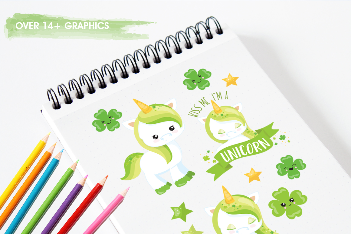 Unicorn Clover graphic and illustrations example image 5