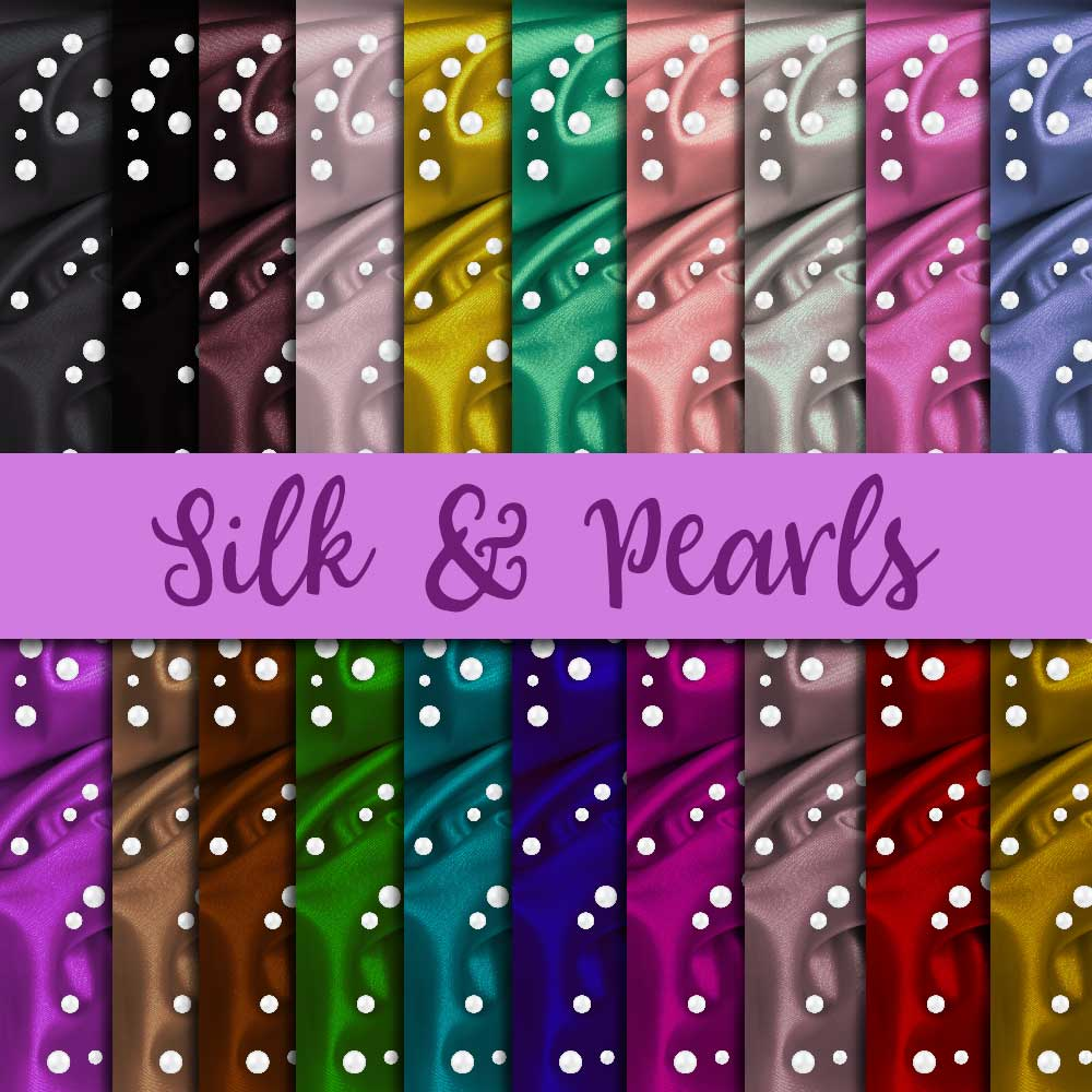 Silk & Pearls Digital Paper example image 1