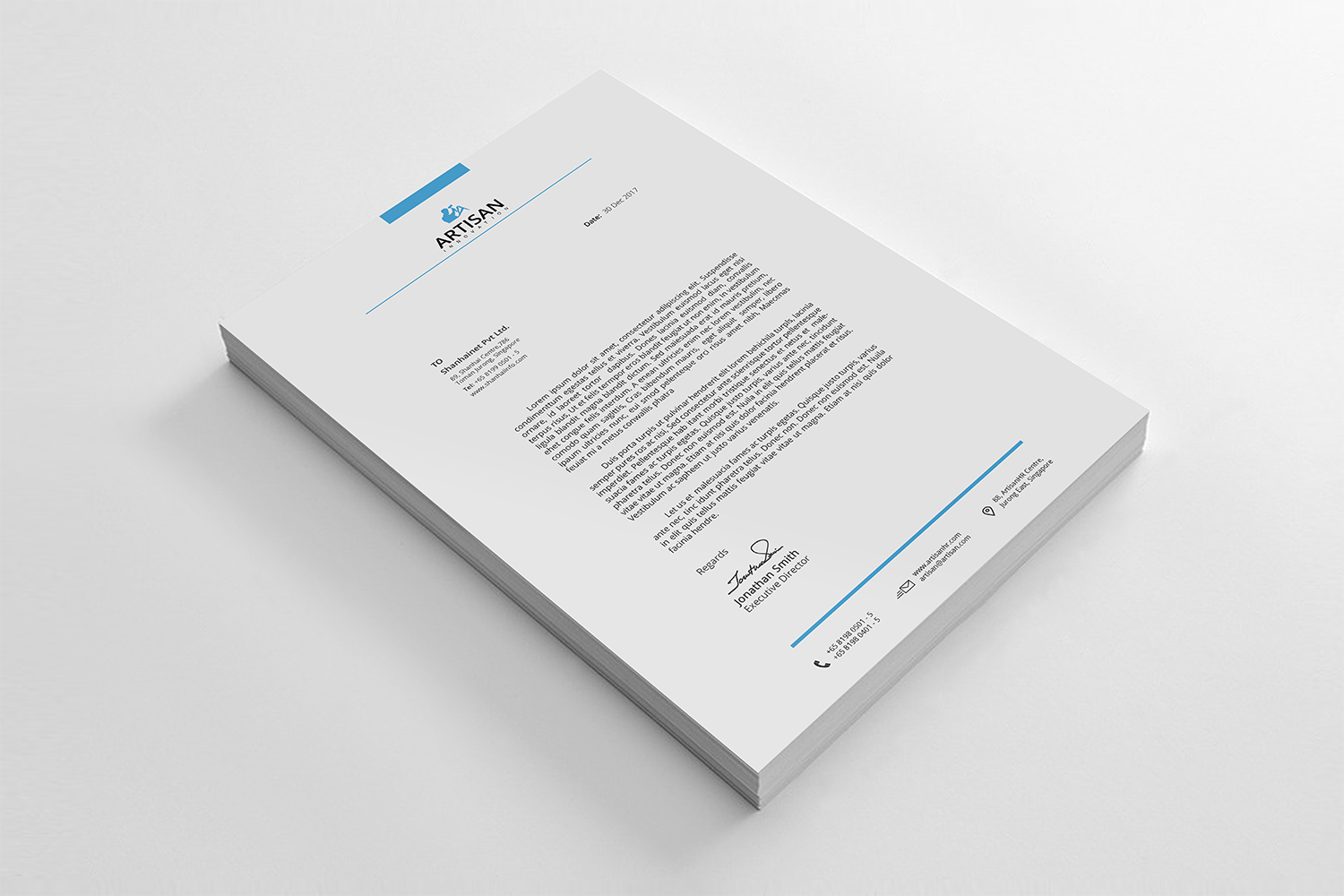 Simple Letterhead Bundle example image 3