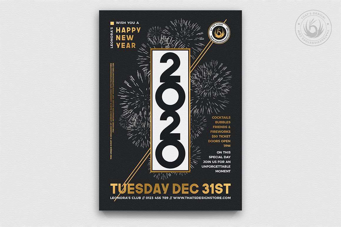 10 New Year Flyer Bundle example image 7