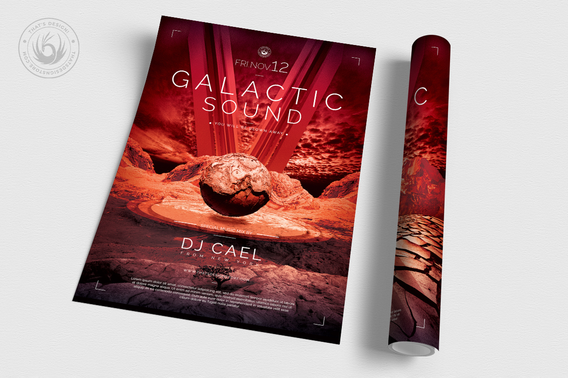 Galactic Sound Flyer Template V3 example image 3