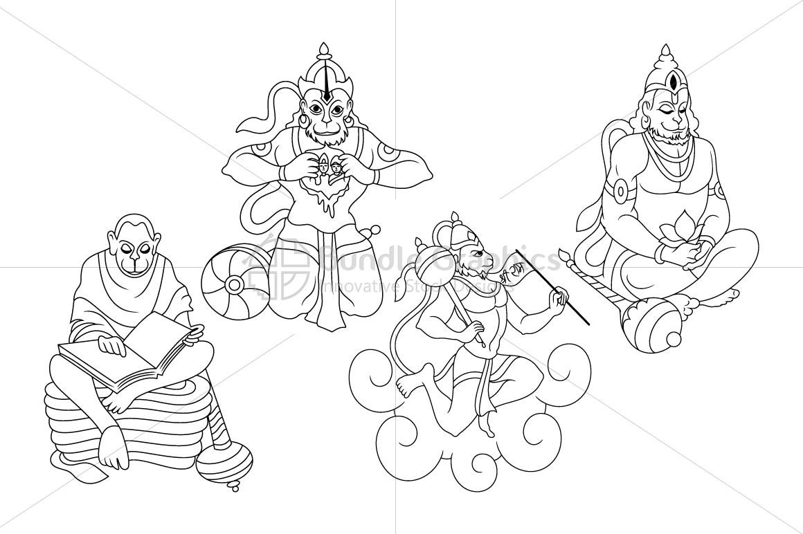 Hanuman - Indian Hindu Deity example image 1