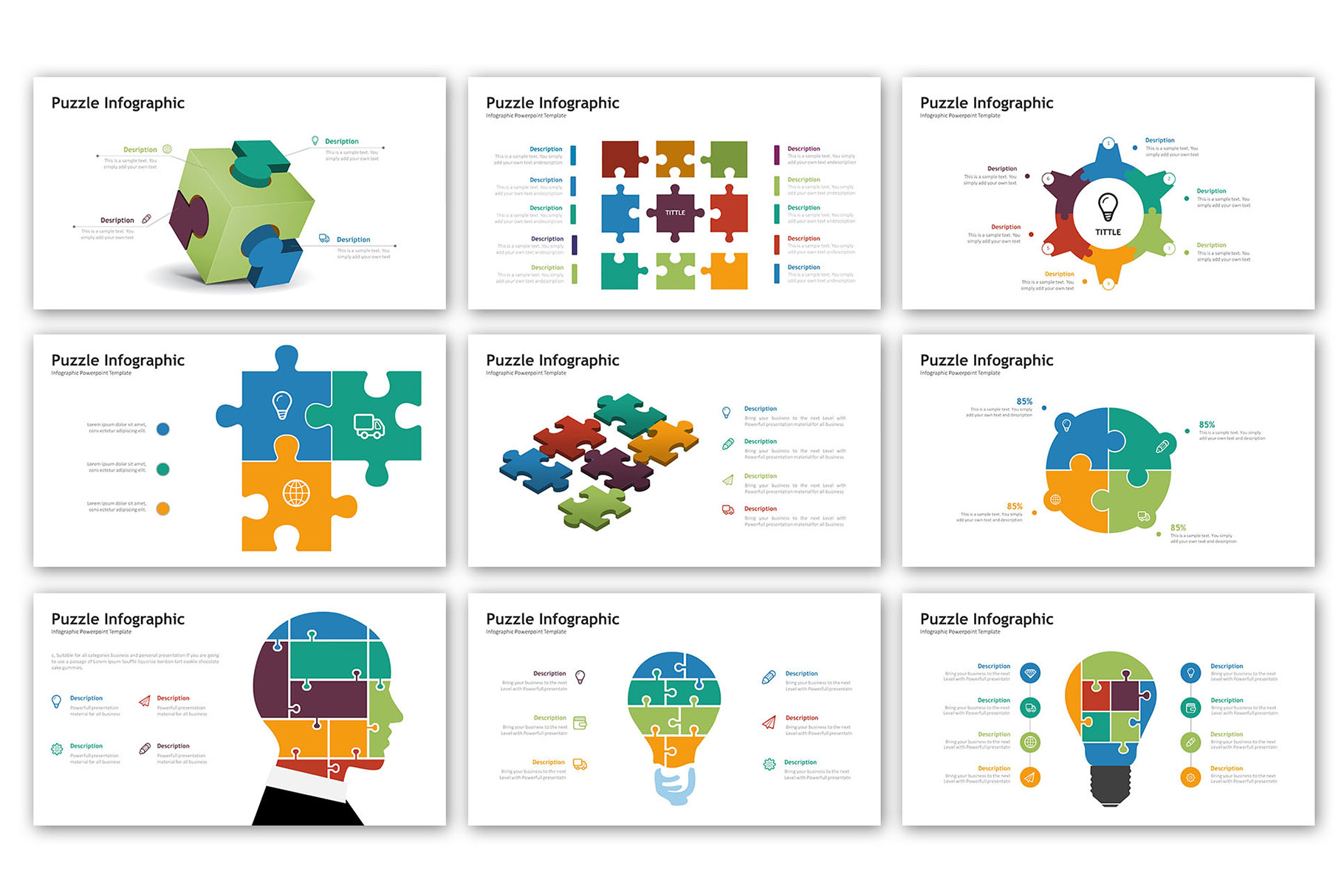 Puzzle Presentation - Infographic Template example image 6