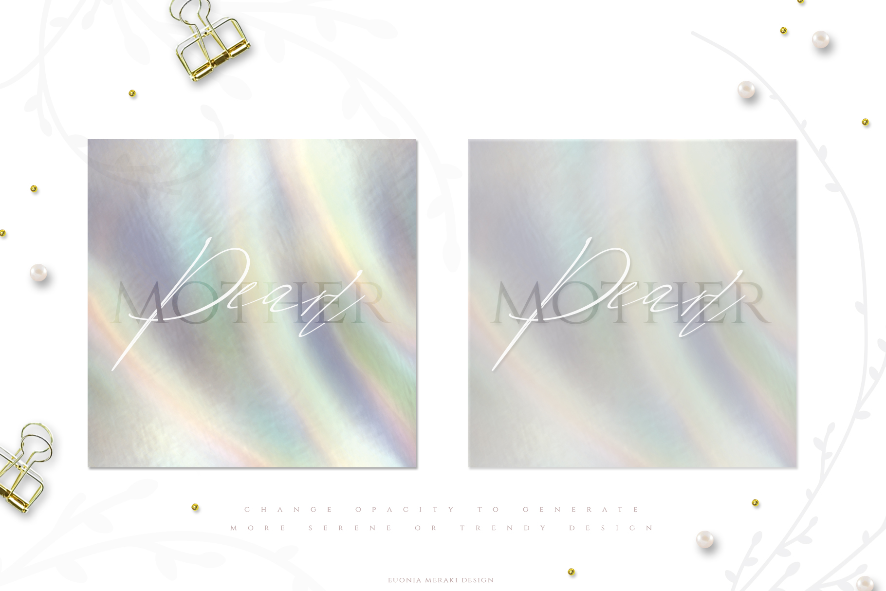 Holographic Pearl - Texture plus FREE Floral set example image 6