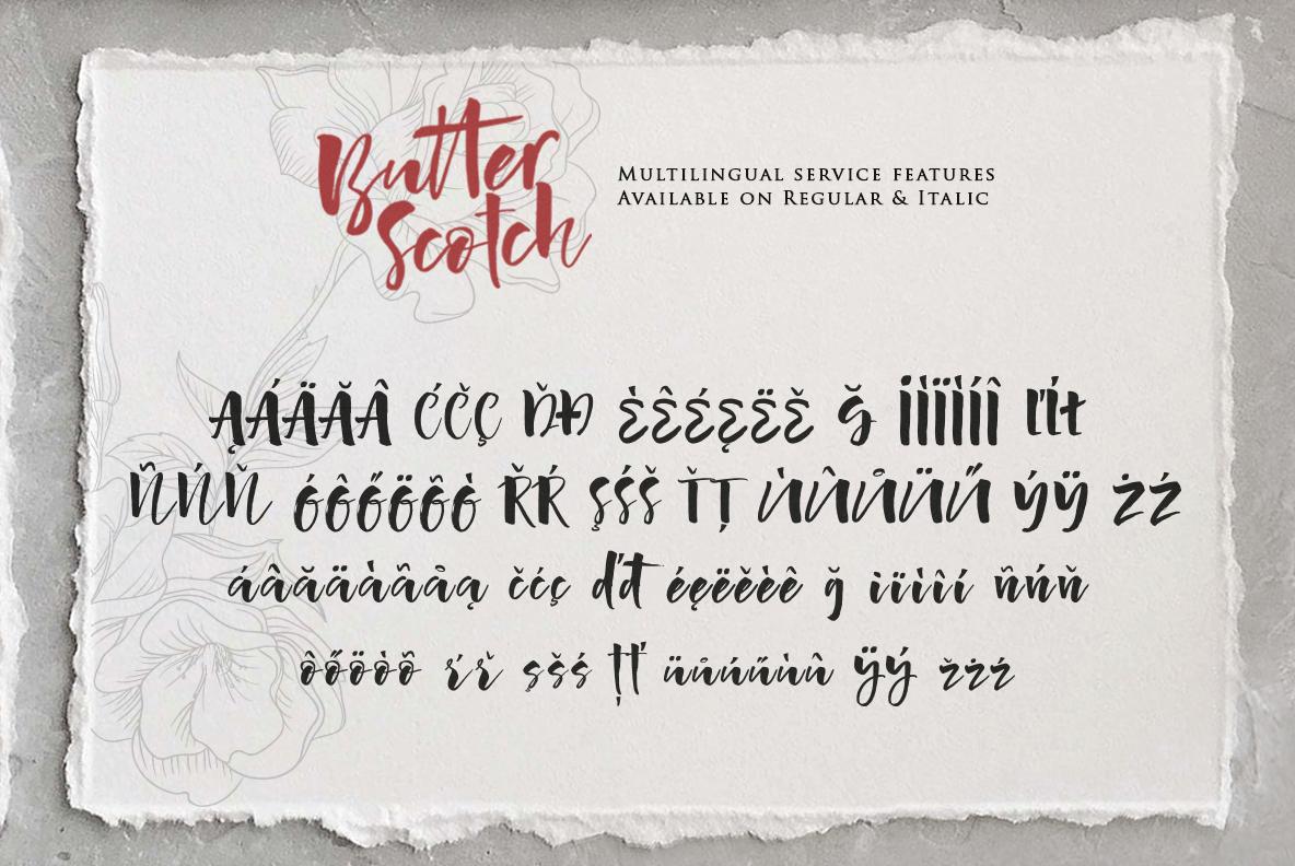 Butter Scotch Script Font example image 15