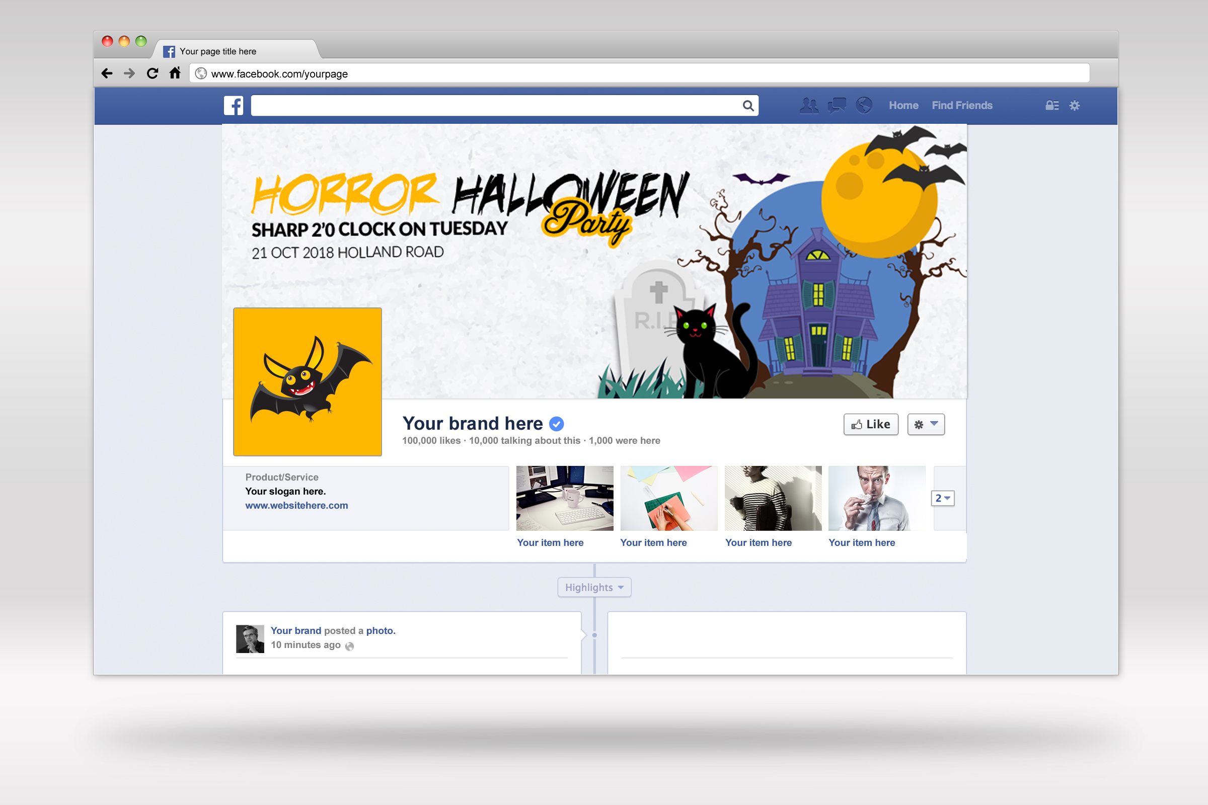 Halloween Facebook Timeline Cover example image 2