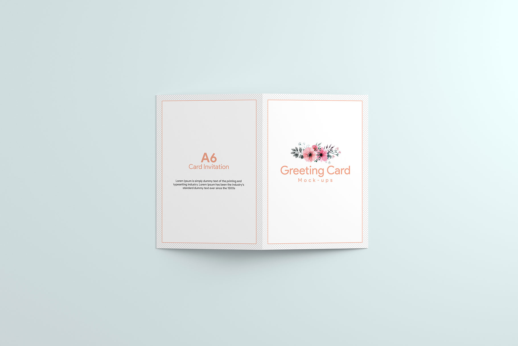 A6 Greeting Card Invitation X2 example image 12