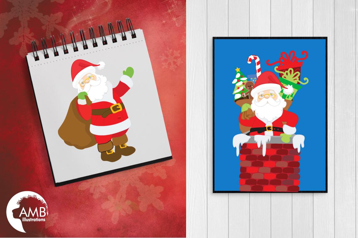 Classic Santas clipart, graphics, illustrations AMB-198 example image 4