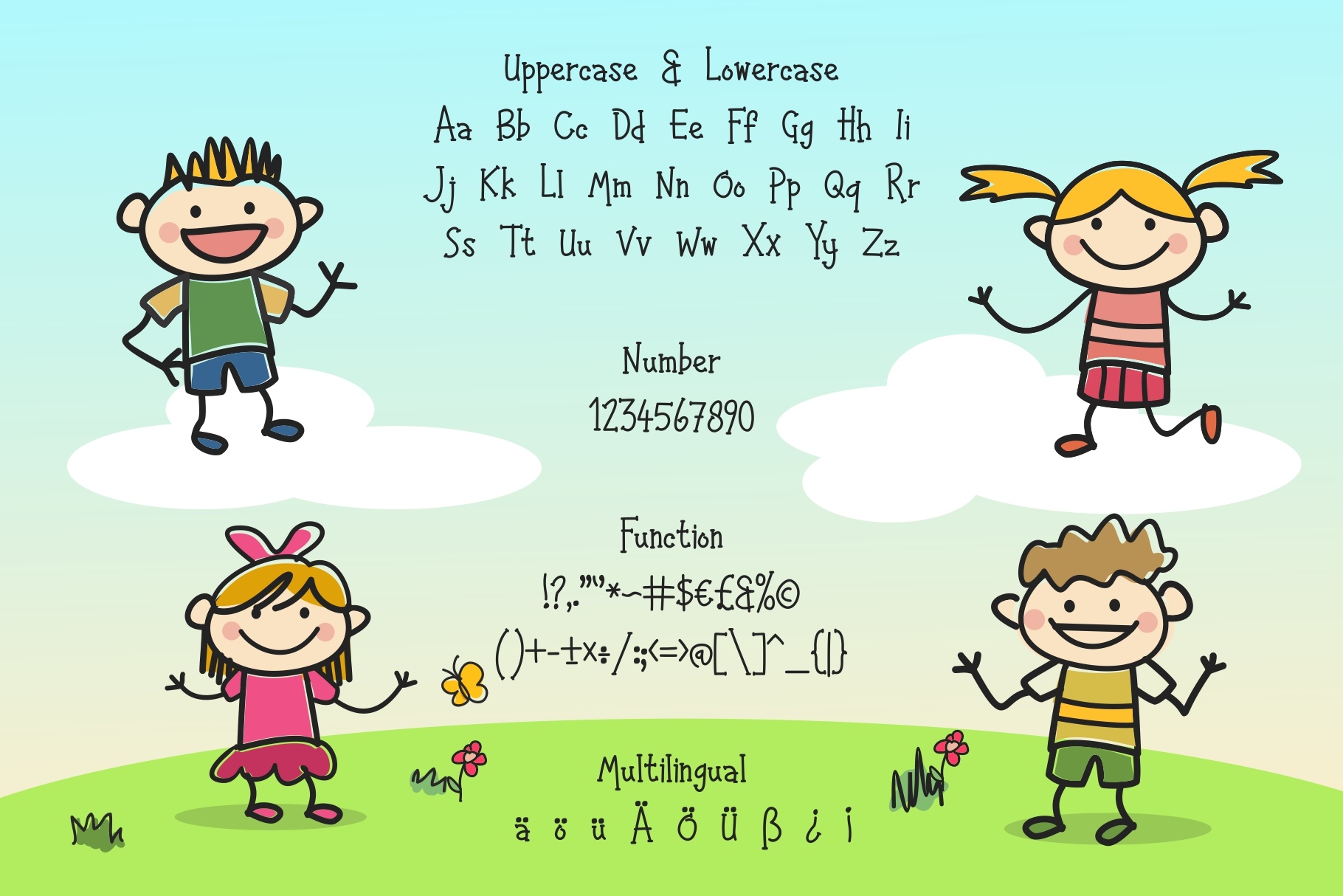 Happy Kids - Playful Font example image 5