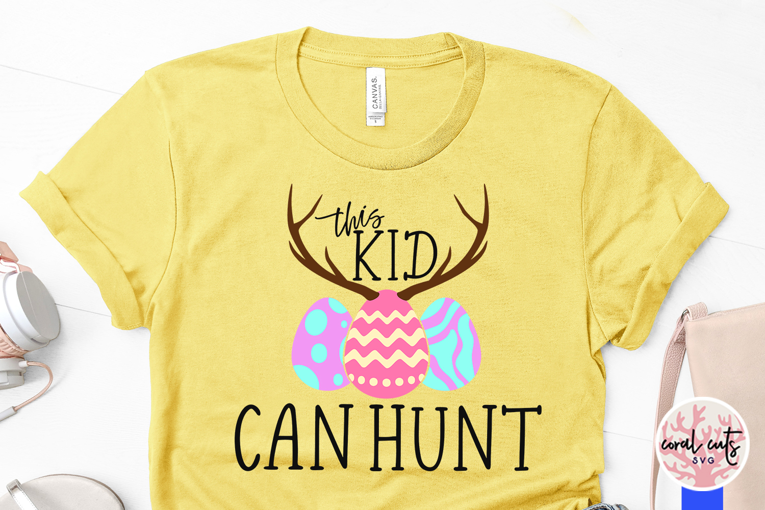 This kid can hunt - Easter SVG EPS DXF PNG Cutting File example image 3