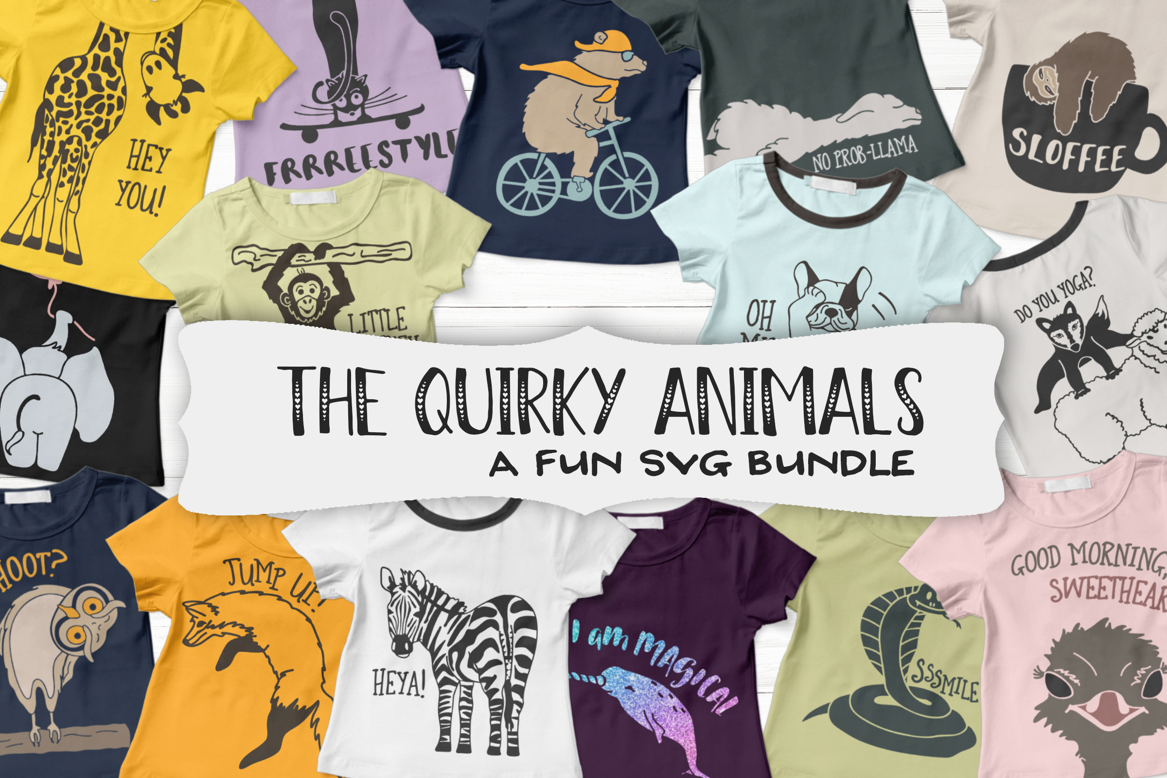 The Quirky Animals | Funny SVG Bundle example image 3