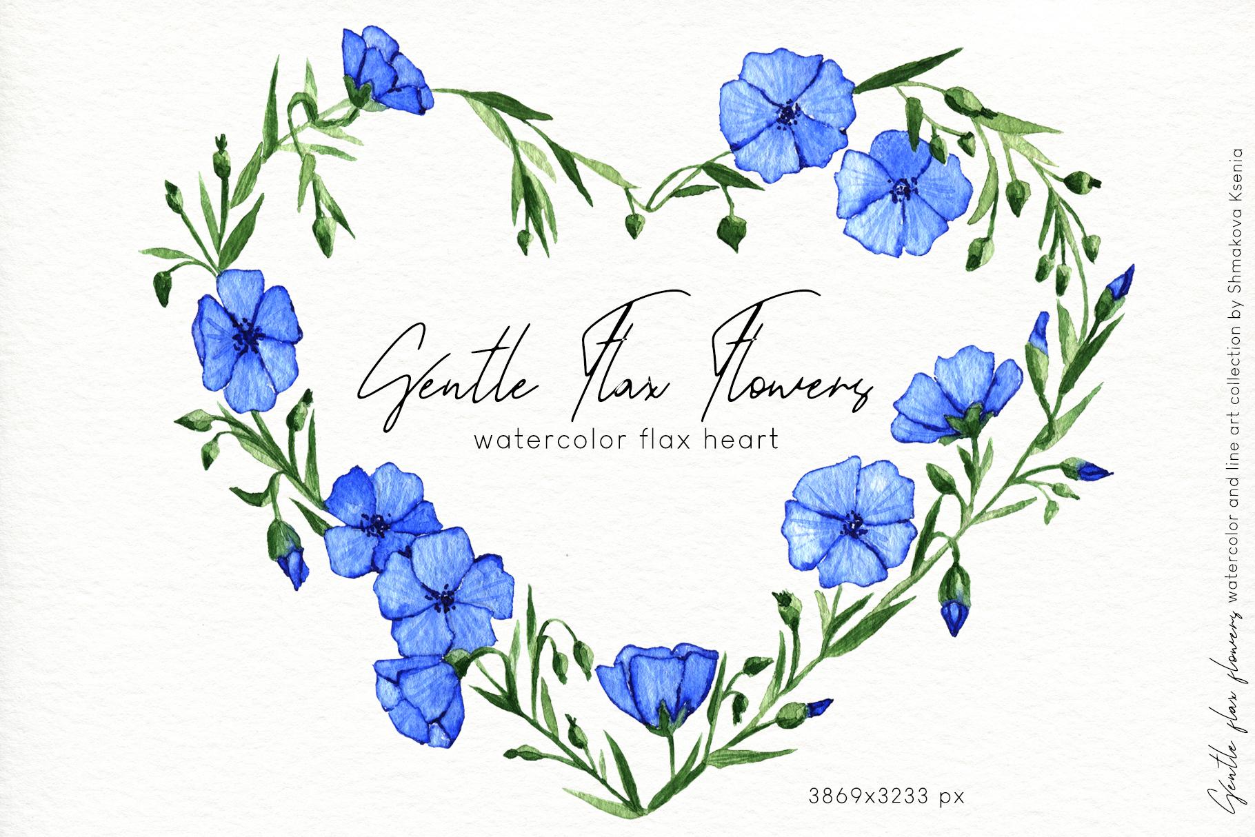 Gentle Flax Flowers example image 9