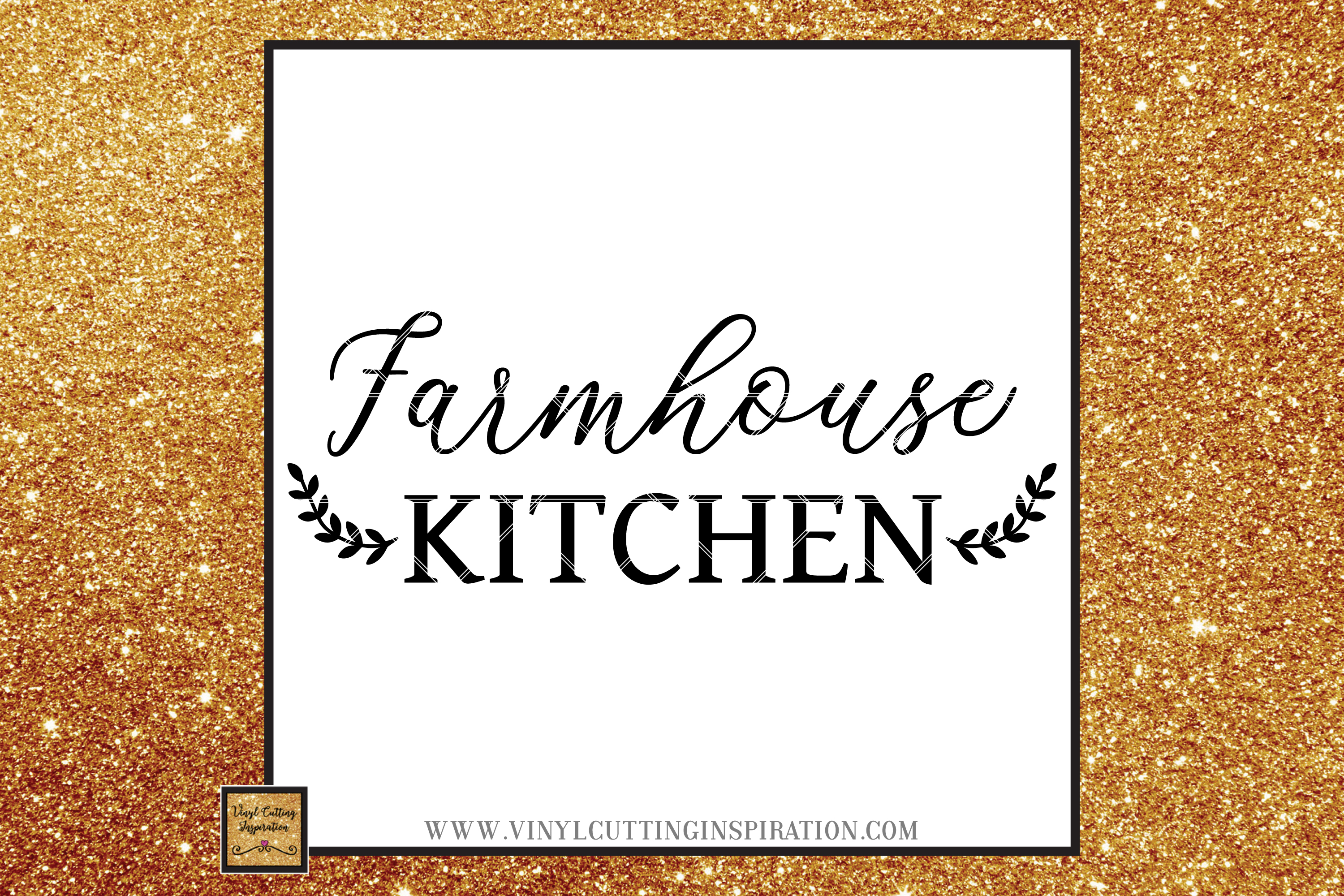 Farmhouse Kitchen Svg, Country Svg, Farmhouse Cutting files example image 1