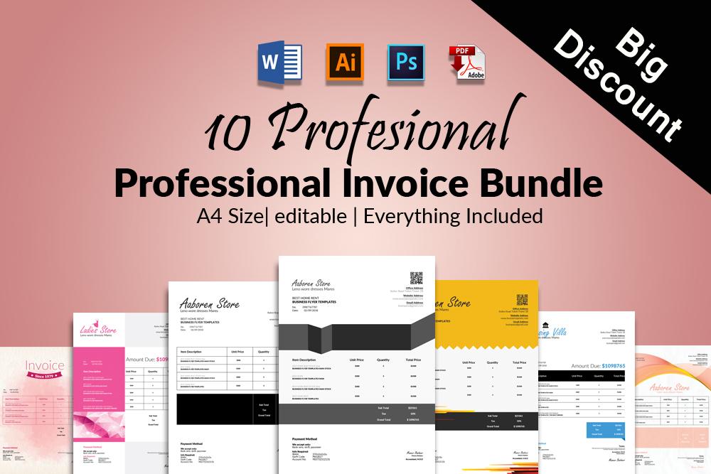 10 Professional Invoice Bundle example image 1