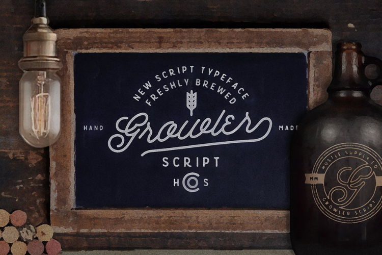 Growler Script - Font example image 1