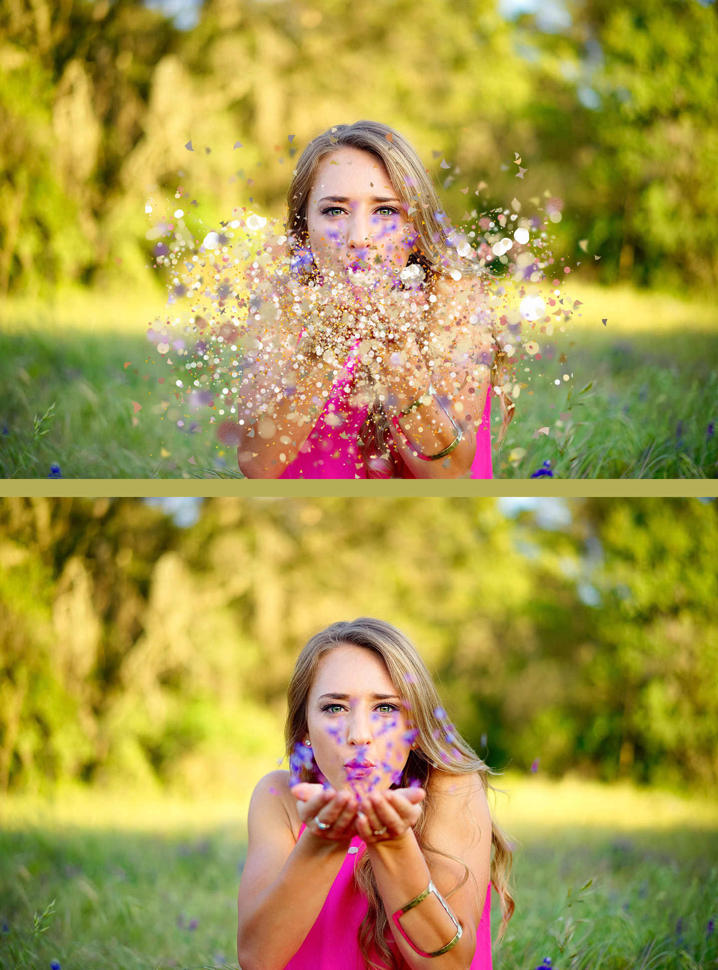 20 Blowing Glitter Photoshop Overlays Png With