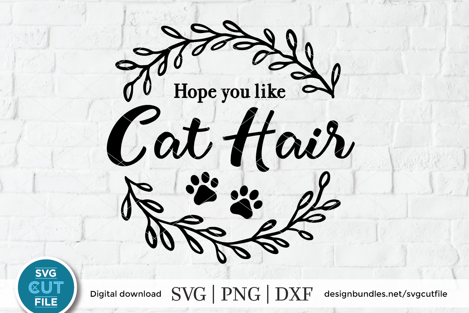 Hope you like Cat Hair Doormat SVG - Cats welcome door mat example image 1